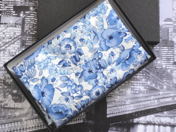 Pocket Square, blue floral pocket square