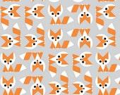 Organic Cotton Crib and Mini crib co sleeper sheets including play yards Arms Reach, Bloom baby, playards 4Moms etc. Fox, orange gray white