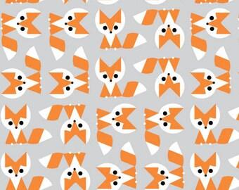 Organic Cotton Crib and Mini crib co sleeper sheets including Arms Reach, Bloom baby, 4Moms  breeze playards etc. Fox orange gray white