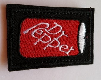 Dr Pepper Soda Drink Beverage Canned iron on patch