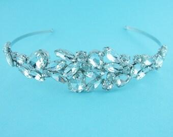 Bridal Headband, crystal rhinestone wedding headband, Pear Crystal headband, wedding headband headpiece 235946638