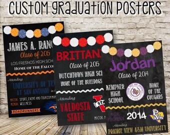 Custom Graduation Chalkboard Poster // Digital File