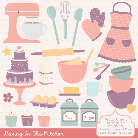 Items Similar To Professional Baking Clipart & Vectors In