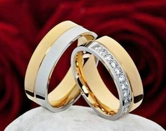 Alliances - weddings-marriages-steel - plated
