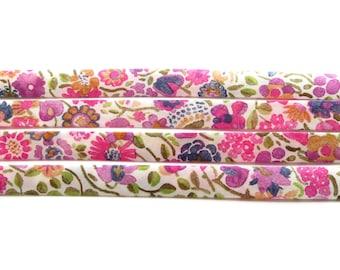 Kaylie Sunshine C Liberty fabric bias binding 1x Yard 10mm wide, Liberty fabric UK, bracelet making and sewing supplies for crafters