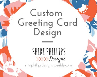 Custom Greeting Card, Note Card, Graphic Design Note Card, Hand made Note Card, Custom Card Design, Note Card Design, Graphic Design