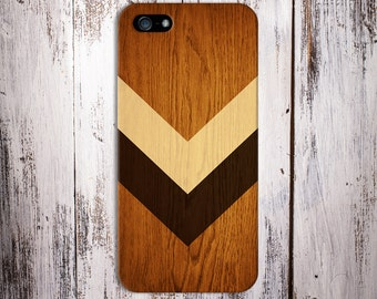 Geometric Light Brown Stained Wood x Chevron Case for iPhone 6 6 Plus iPhone 7  Samsung Galaxy s8 edge s6 and Note 5  S8 Plus Phone Case