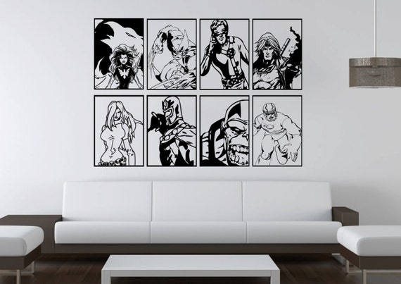 Large marvel comics x men villains magneto by hallofheroes - Mens bedroom wall art ...