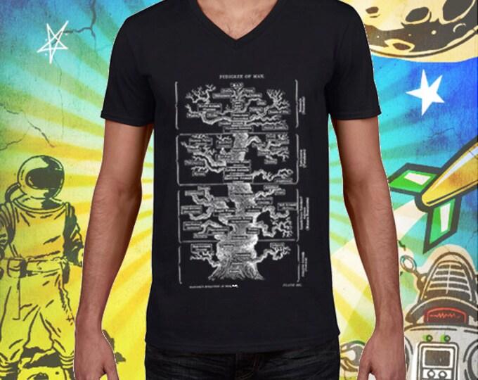 Men's Pedigree of Man V-Neck 100% Ring Spun Cotton Tshirt