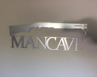 metal wall art / man cave art /cnc art / custom metal art / shot gun / home decor / garage / garage art / dad / fathers day / metal / CNC