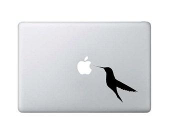 Hummingbird #1 Eating at Apple - Macbook Decal - Home/Laptop/Computer/Phone/Car Bumper Sticker Decal