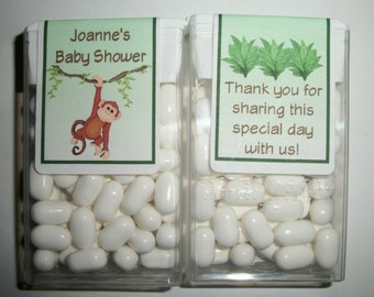 28 Monkey Jungle Safari Baby Shower Favors Tic Tac Labels ~ FREE SHIPPING