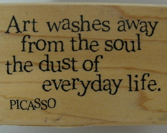 Picasso quotation stamp
