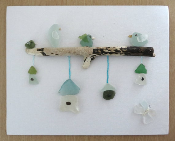 how to make sea glass art