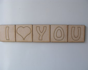 Love Magnet, Fridge Magnet, I Love You Magnet, Reminder Magnet