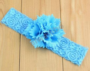 Baby Headband, Lace Flower Headband, Baby Flower Headband