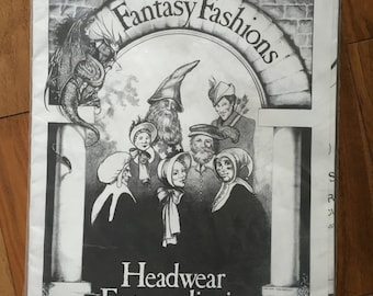 Fantasy Fashions Headwear Extraordinaire pattern, uncut and unused