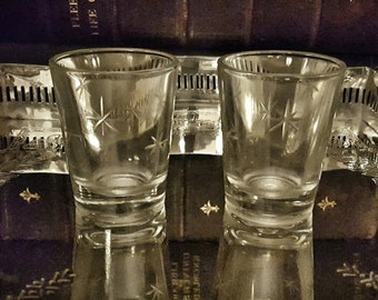 Vintage 1940s Starburst Shot Glasses (set of 2)