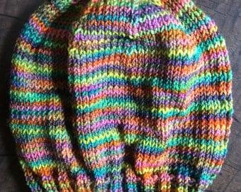 Multicoloured Marino Slouchy Baby Hat