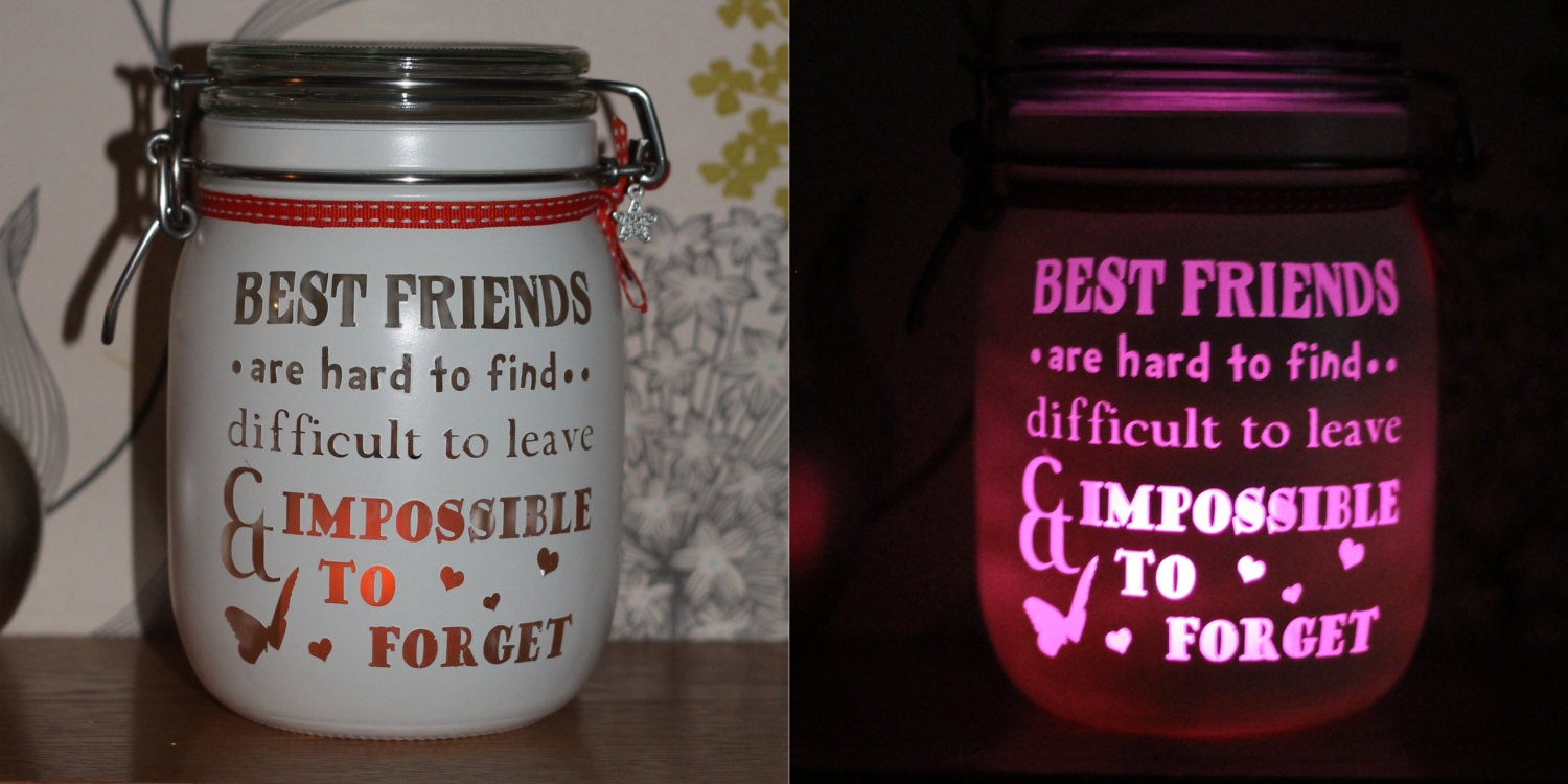 personalised glass candle memory jar gift for her friend. Black Bedroom Furniture Sets. Home Design Ideas
