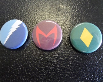 Marvel - Quicksilver, Scarlet Witch, and The Vision - Buttons