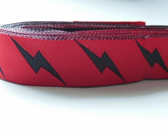 10yards 7/8inch The Flash Lighting Jacquard Ribbon Woven Ribbon for Dog Collars