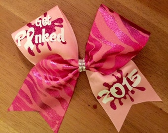 get pinked breast cancer cheer bow