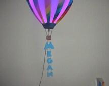 Pink Hot Air Balloon nursery light shade