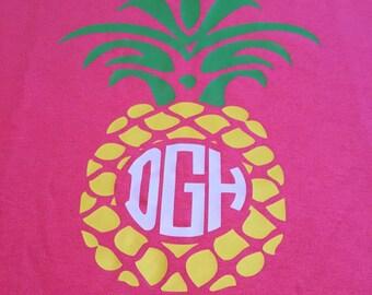 Pineapple monogram shirt