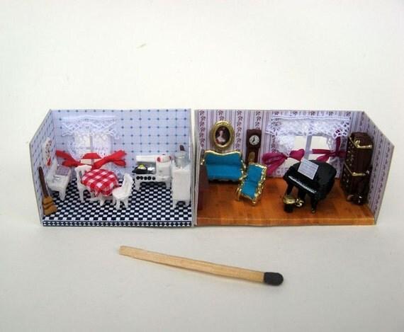 miniatur zimmer f r puppen puppenhaus miniatur. Black Bedroom Furniture Sets. Home Design Ideas
