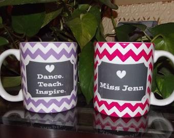 Dance Teach Inspire Dance Teacher Personalized Mug