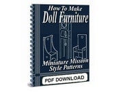 How to Make Doll Furniture, Dollhouses, Toy Apartment House and Horse Stable Plans - 5 Easy PDF Downloads