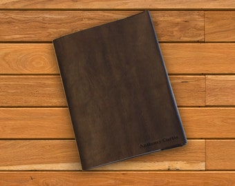 Leather Composition Cover, Personalized w/ your name or initials, Laser Engraved