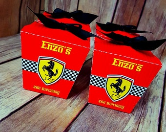 10 Ferrari Chinese take out box - Personalized Favor Box - candy box - we do it in any themes, for birthday, baby shower.