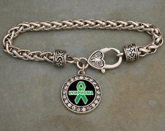 Lymphoma Awareness Clasp Bracelet