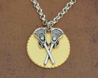 Lacrosse Gold Disk Necklace