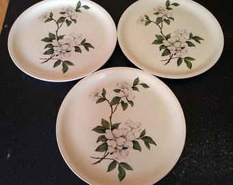 3 Homer Laughlin Debutante Pattern Dinner Plates
