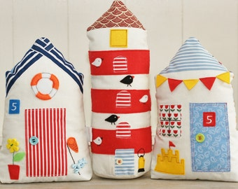 Stuffed lighthouse. Stuffed fabric lighthouse. Fabric home. Fabric decoration. Gift for a child and an adult. Gift from holiday. Beach. See.