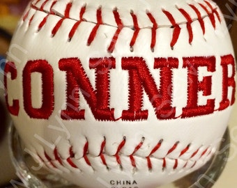 Personlized Embroidered Baseball
