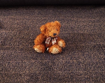 21 metres upholstery fabric, black and milk chocolate brown shaggy pile chenille Brown upholstery fabric