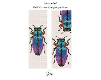 peyote pattern chrysobothris beetle bracelet