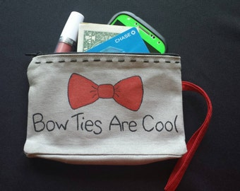 Bow Ties Are Cool Wristlet