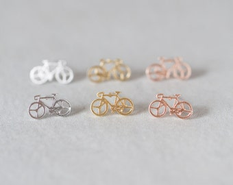 Bicycle Earrings / Silver Post