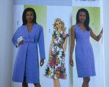 Mother bride Dress/V neck / sleevess/church dress/ long jacket/ bow 2010 sewing pattern, Bust 31 32 34 36, Size 8 10 12 14, Butterick B 5459