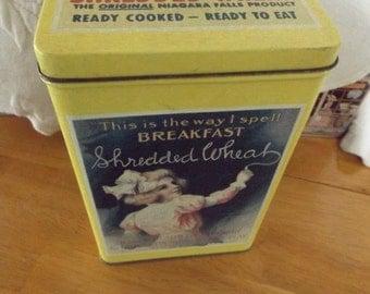 Vintage Nabisco SHREDDED WHEAT Advertising Tin