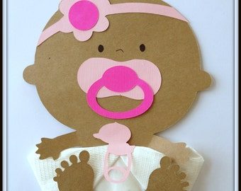 Shower DecorAfrican American Baby Girl Baby Headband Baby Shower Napkins