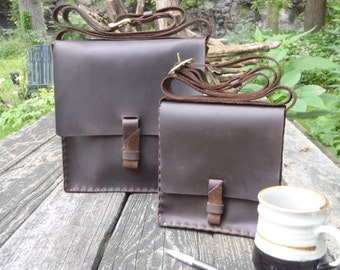 "Handmade Leather Chocolate Brown Messenger Bag,10""X10.5""X2.625 Purse, Crossbody Handbag.Notepad Bag.Book Bag.Electronic eccessories Brass"