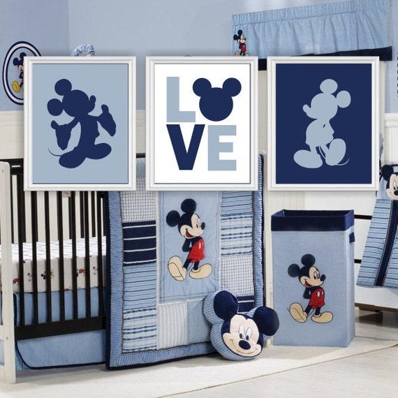 Mickey Mouse Silhouette Love Disney Wall Art Baby Boy Room