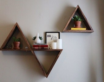 Geometric Triangle Shelves