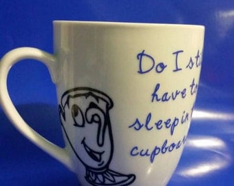 Custom disney coffee mug with character and quote of choice